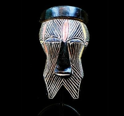 Ancien masque africain  Old Tribal Songye Ceremonial Mask -----D R Congo