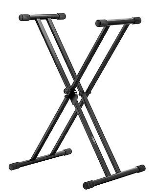 Support En Double X Piano Stand Pied Clavier Synthétiseur Scene Concert Reglable