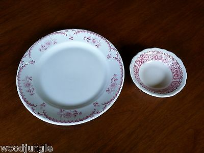 Syracuse China Red  Chardon Rose Strawberry Hill Pink Bowl Railroad Ware
