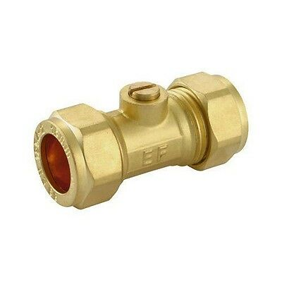 Brass Isolation Valve 15 mm Pack of 10 or Single Compression Fitting