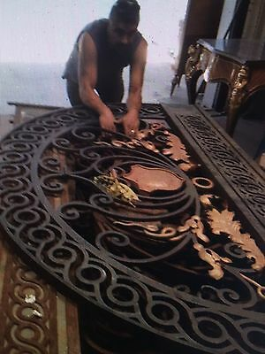 Large Ornate Transom For Double Doors