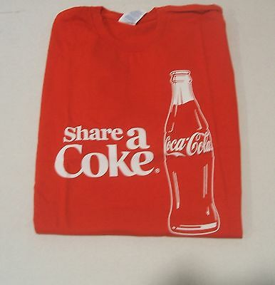 Red Share a Coke Coca-Cola  T-Shirt Large