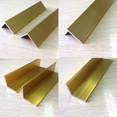 Bright Gold Anodised Angle Trim Edging Various Sizes