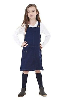 Girls High Quality Denim Pinafore Dungaree Dress Baby