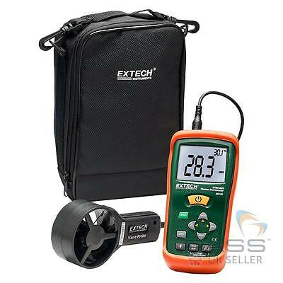 NEW Extech AN100 CFM/CMM Mini Thermo Anemometer - Air Flow, Velocity,Temperature