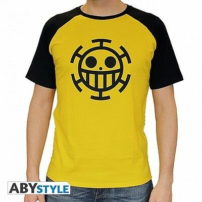 "ONE PIECE T-shirt Trafalgar Law Yellow (S (40"" Chest)"