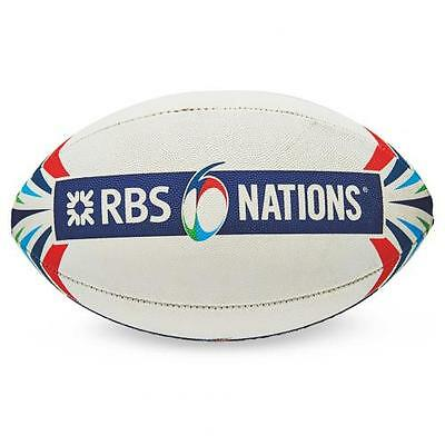 RBS 6 Nations Official Midi Size Synthetic Rugby Ball