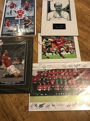 Job Lot Of Signed Sports Photos - Official Prints  Football Cricket Man United