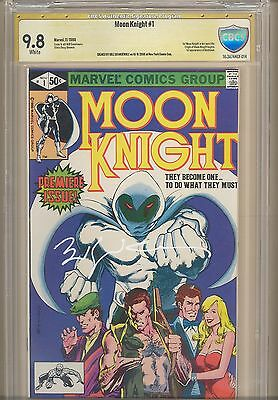 MOON KNIGHT #1 - CBCS 9.8 signed by Bill Sienkiewicz 1st series, origin issue