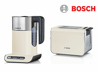 Bosch Kettle and Toaster Pack | Cream TWK8637PGB + TAT8617GB