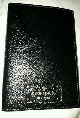 NWT Kate Spade Leather Passport Holder Wellesley Black