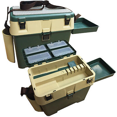 Carp Fishing Camping Seat Box Chair Angling System with Storage and Side Tray