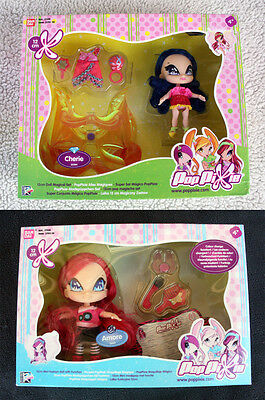 2 POP PIXIE DOLLS: AMORE & CHERIE (WINX CLUB Friends) BANDAI, BRAND NEW IN BOXES
