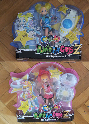 2 POWER PUFF GIRLS Z DOLLS: PETALO & BURBUJA. With Light, Sound & More. NEW!