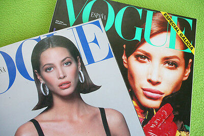 2 Vogue Magazines: Christy Turlington! 1990 & 1991, Spanish Version (Revista).