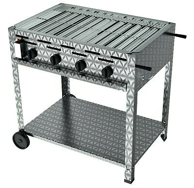 Yourgrill Gasgrill 4 Flammig  Untergestell Mobil Gastro  Edelstahl