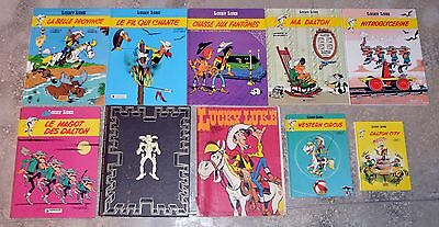 Lot 10 BD Lucky Luke formats divers dont 5 EO