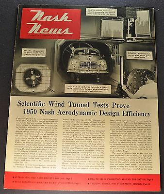 1950 Nash News Catalog Brochure Airflyte Wind Tunnel Excellent Original 50
