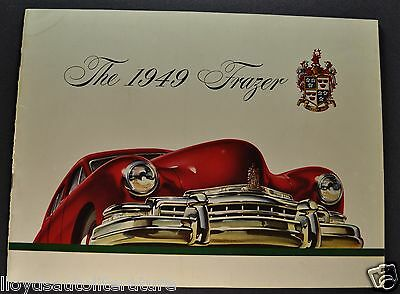 1949 Frazer 24pg Catalog Sales Brochure Manhattan Excellent Original 49