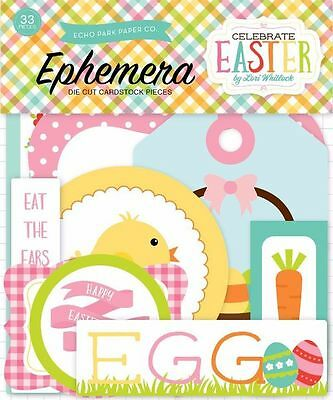 "Echo Park ""celebrate Easter"" Ephemera Die Cuts (33Pcs) Spring Scrapjack's Place"