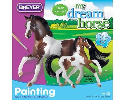Breyer Model Horses Mare and Foal Painting Craft Kit Paddock Pals Size #4158