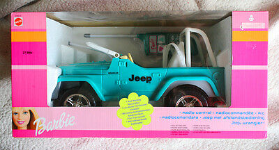 Barbie: Jeep Wrangler (Radio Control Car, Coche). Brand New In Box, Old Stock!