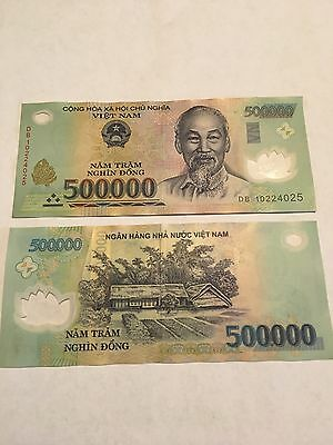 Vietnam 500,000 Dong Currency VND Polymer Banknote Vietnamese