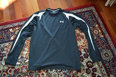 UNDER ARMOUR men SPORT SWEAT SHIRT BLACK long sleeve sz -M NEW