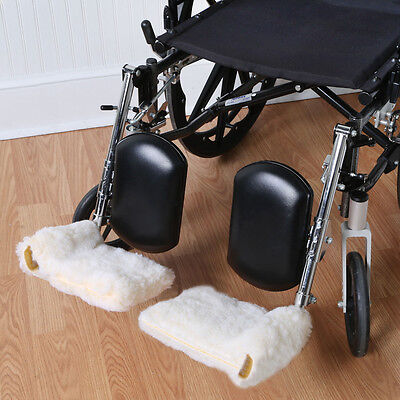 Sherpa Wheelchair Footrest Covers - Adds Cushioning and Warmth