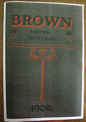 Veteran Brown 1904 Book Pictures, Instructions And Catalogue