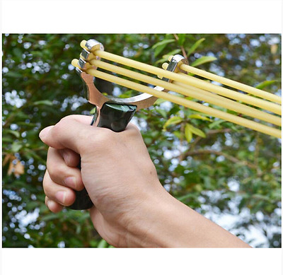 Slingshot Powerful Predator Stainless Steel Sling Shot Catapult Hunting Folding