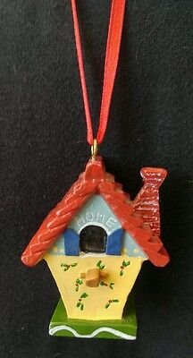 Mary Engelbreit Miniature Resin Bird House with Chimney & Perch Ornament Home
