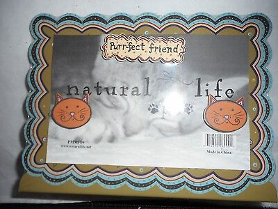 Natural Life Metal Cat Picture Frame Purr-fect Friend PMMF09 Holds 4x6 Picture