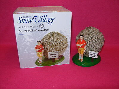 Department 56 TRAVELS WITH ED, MISSOURI  World's Largest Ball of Twine