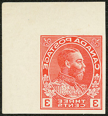 Canada  #108 E-Red  3¢ Admiral REVERSED IMPERF LITHO PROOF