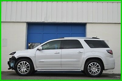 2016 GMC Acadia Denali AWD 4WD Loaded Nav HUD Rear DVD Moonroof ++ Repairable Rebuildable Salvage Lot Drives Great Project Builder Fixer Easy Fix