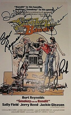 Script Screenplay Smokey And The Bandit Burt Reynolds Printed Signed Cover