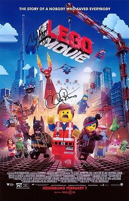 *printed Signed Cover*  Script Screenplay   The Lego Movie