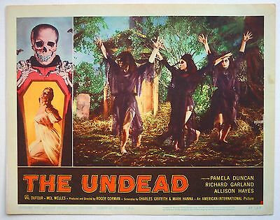 Orig 1957 THE UNDEAD Lobby Card #6 HORROR Witch Dance Roger CORMAN Allison HAYES