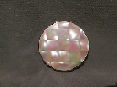 Vintage Stratton England  Mother Of Pearl  Ladies Compact Retro