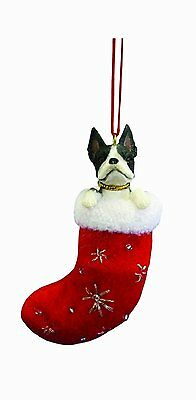 Boston Terrier Santa's Little Pals Dog Christmas Ornament