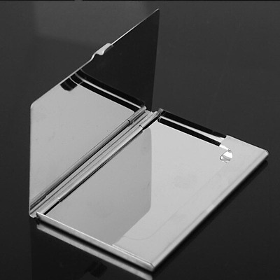 Box Holder Metal Stainless Credit Namecard Clip Card Case Business Waterproof