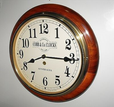 """Cobb & Co Made In Australia Timber Wall Clock As New And Working Perfect """"L@@K"""""""