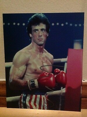 Rushed Autographed Sylvester Stallone ROCKY 8x10 Photo Signed In Silver
