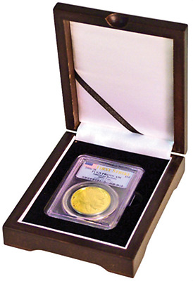 Guardhouse 1 Certified Coin Slab Display Wood Box Mahogany Case Graded NGC PCGS