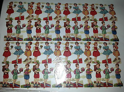 GENUINE VINTAGE PAPER SCRAPS ENGLISH CHILDREN MAMELOK No. 753 EPHEMERA PRE 1958