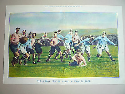 """Rugby. """" The Great Winter Game """" 1928. Rare."""