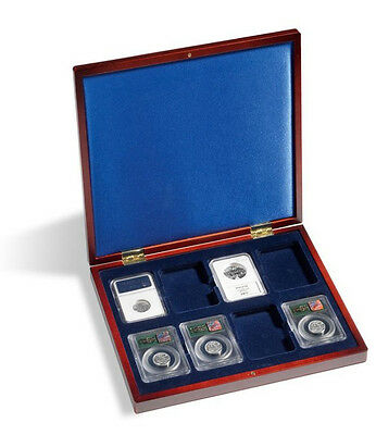 Lighthouse VOLTERRA Deluxe Presentation Box Case For 8 Certified US Coin Slabs