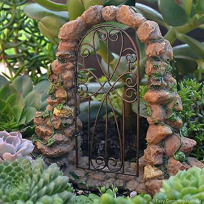 Arch with Gate Fairy cottage Home Garden Craft Décor