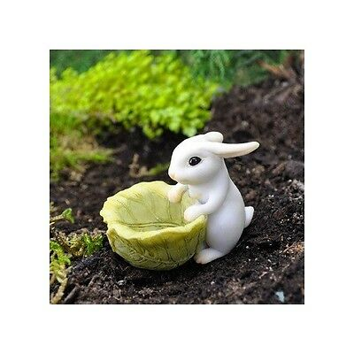 Bunny with a Cabbage Planter Fairy cottage Home Garden Craft Décor